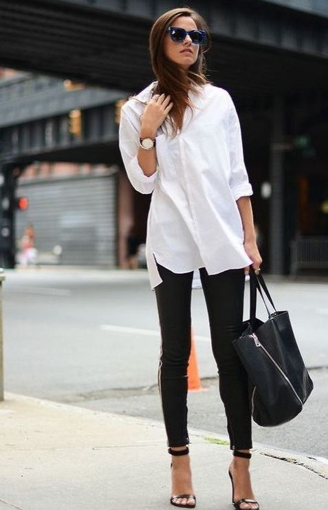 Big watch with black pants and white shirt. Business Casual | workwear doesn t have to be boring with these 10 essentials you ll be stylish and rockin the office in no time streetstyle 71