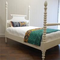 Details about Spindle Bed Four Poster King Size Solid Wood ...