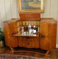 Antique Pop Open Art Deco Bar Wine Martini Liquor Cabinet ...