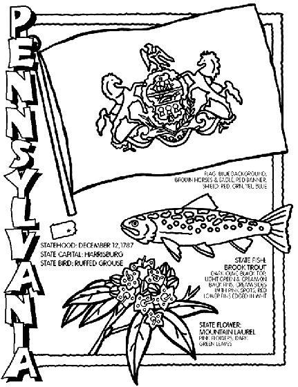 #Pennsylvania State Symbol Coloring Page by Crayola. Print