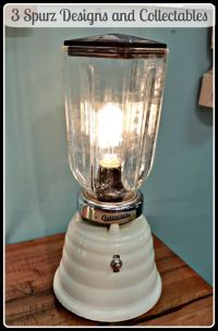Vintage beehive Osterizer blender turn into a lamp, switch ...
