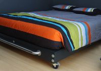 DIY Platform Bed with wheels!!!! I really like this one ...