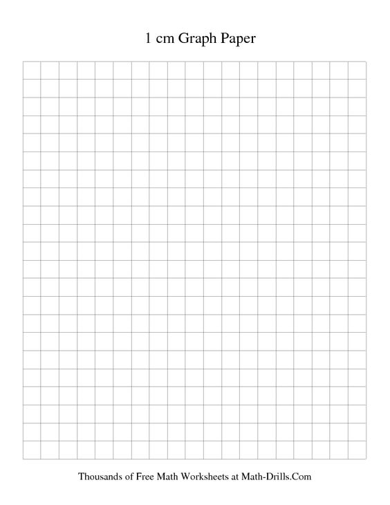 1 cm Metric Graph Paper (Black) printable graph paper math