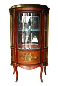 GOOD Antique FRENCH Curio Cabinet HAND PAINTED w1338 ...