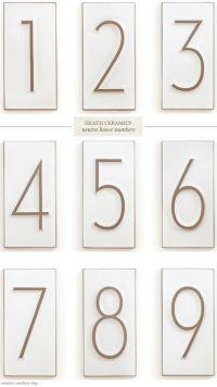 House numbers, Heath ceramics and Numbers on Pinterest