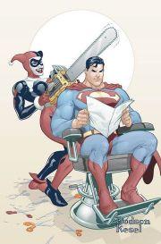 harley quinn cut superman's