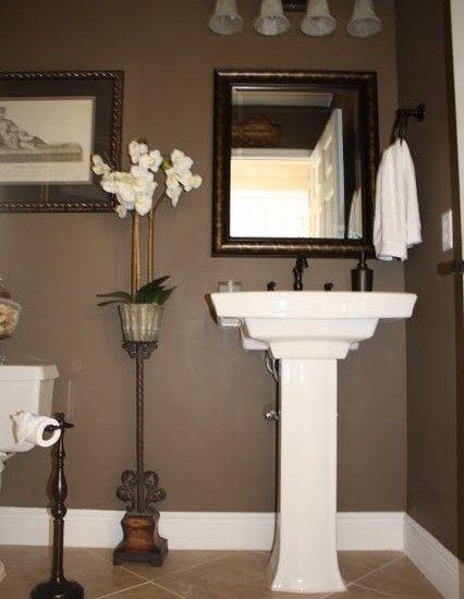 I Like This Pedestal Sink Alot Powder Room Design