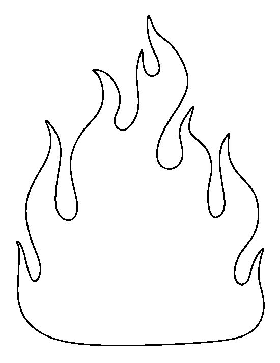 pentecost flame template