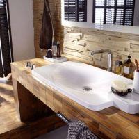 Holz Mosaik Fliesen-badezimmer fliesen ideen | bad | Pinterest