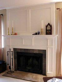 Fireplace reno. idea-remove stone and add new surround ...