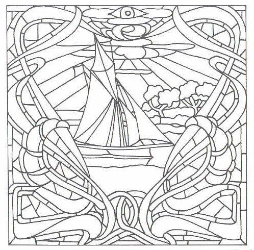 Sailing ships, Coloring and Patterns on Pinterest
