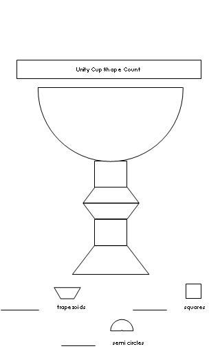 Kwanzaa Unity Cup Shape Count Worksheet from Making