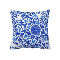 Chinoiserie, Blue and white and Floral pillows on Pinterest