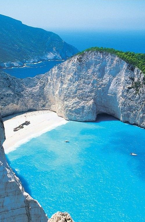 Zakynthos, Greece. Wow never seen this before but it looks like the place I dreamed about! Literally dreamed I was in a place like this: