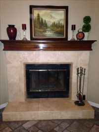 Travertine fireplace by: MG Ceramic Tile Salida ...
