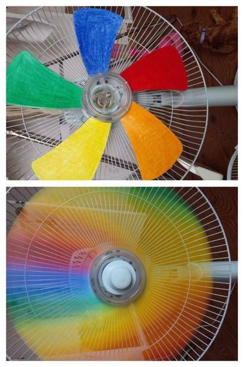 DIY Rainbow Fan: