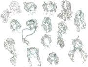 anime girl hair design