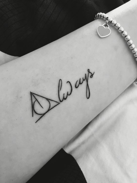 These Minimalistic Harry Potter Tattoos Will Definitely Cast A Spell