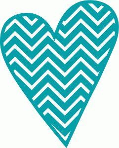 Download chevron heart cutting file   Cameo / Cut files   Pinterest ...