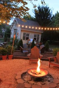 Patio, String lights and Backyards on Pinterest