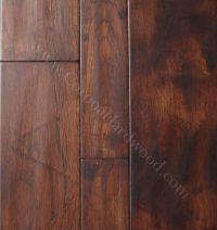 Hickory Distressed Gunstock Engineered flooring   kitchen ...