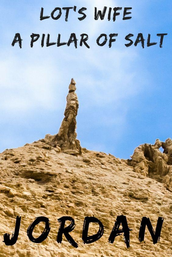 Salt Pillar of Lot's Wife Jordan