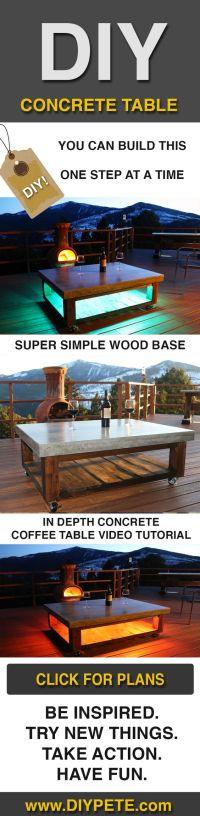 DIY Patio Concrete Coffee Table | #ScrapWorkLove # ...