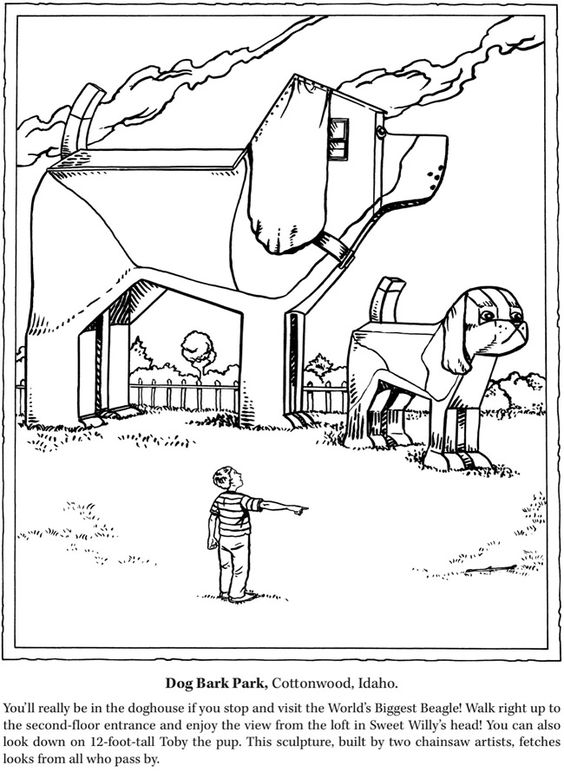 Roadside Attractions Coloring Book: Weird and Wacky
