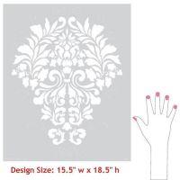 Fabric Damask Wall Stencil | Canvas wall art, Patterns and ...