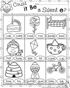 Silent e, Worksheets and Literacy worksheets on Pinterest