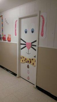 Easter bunny door decoration | School ideas | Pinterest ...