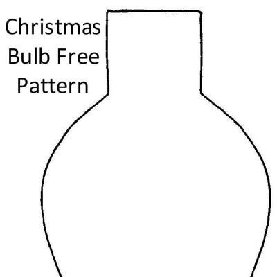 Get Free Christmas Bulb and Ornament Patterns for
