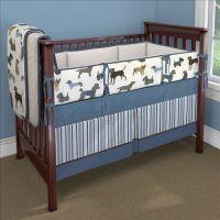 Blue Doggy Days Custom 4-piece Crib Bedding Set   Blue ...