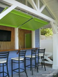 flip up windows | Tiki Bar and Dock: Our Cottage Home ...