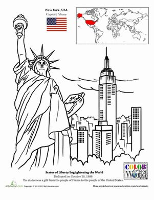 Coloring pages, New york city and Coloring on Pinterest