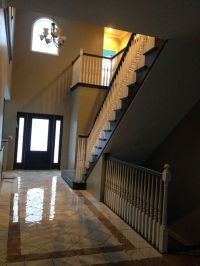 Open basement stairs, Grout and House on Pinterest