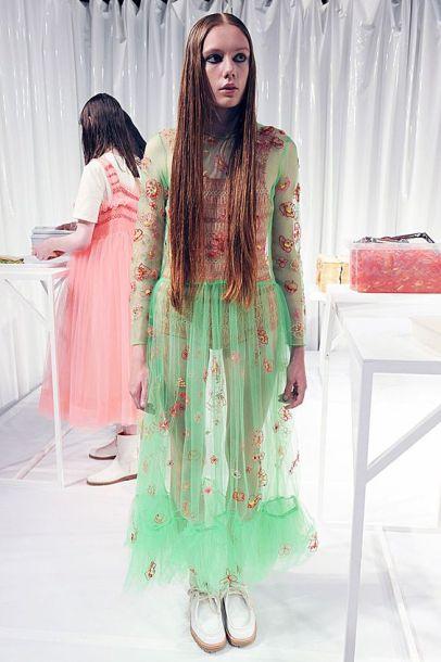 Molly Goddard SS16 #LFW http://www.vogue.com/fashion-shows/spring-2016-ready-to-wear/molly-goddard:
