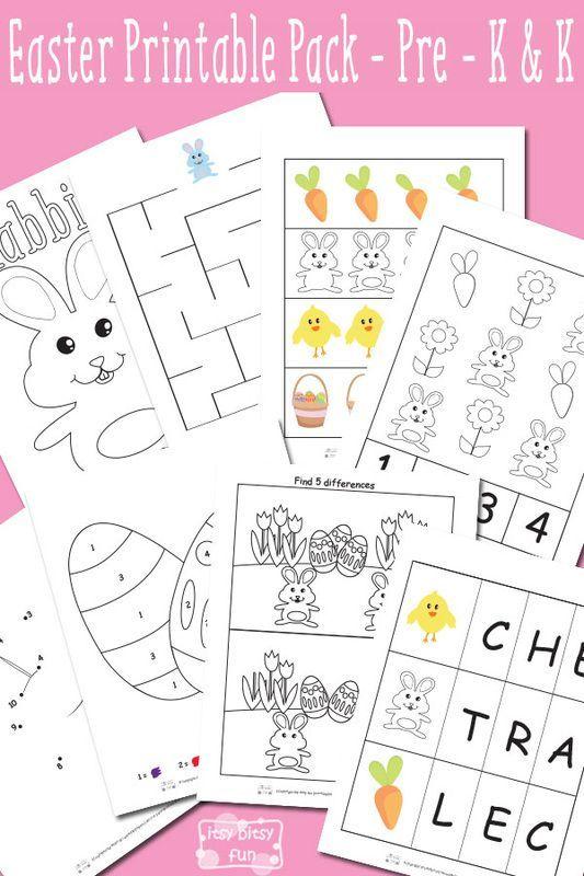 Easter Printable Preschool and Kindergarten Pack