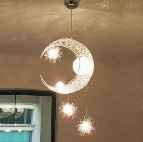 Moon  Star Children Kid Child Bedroom Pendant Lamp Chandelier Light Ceiling  Childs bedroom