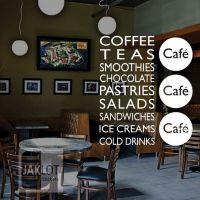 Details about COFFEE TEA SANDWICHES CAFE - LARGE Vinyl ...