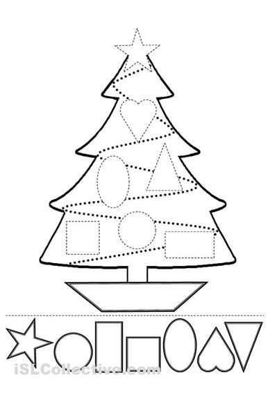 Cut and paste, Christmas trees and Activities on Pinterest