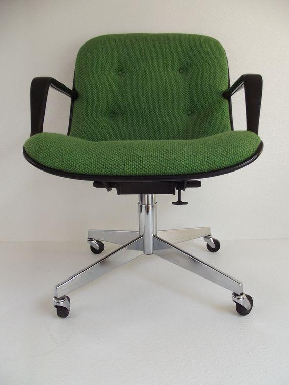 Vintage 1970s Steelcase Swivel Tilt Office Chair Pollock