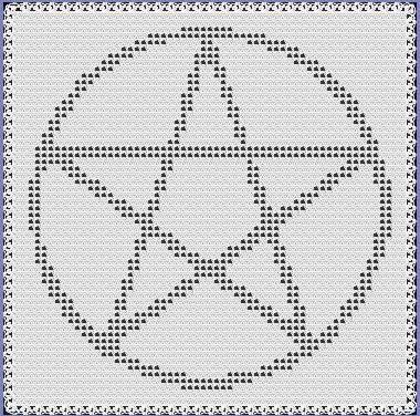 Pentacle Lapghan Afghan Filet Crochet by