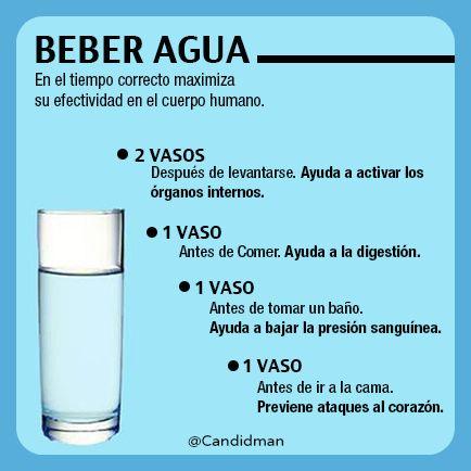 Cuanta agua beber
