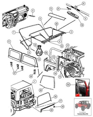 Interactive Diagram  Jeep Wrangler JK 2 Door Soft Top