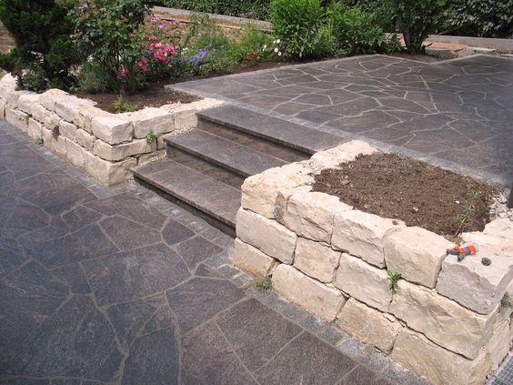 S Sichtschutz Terrasse Granit