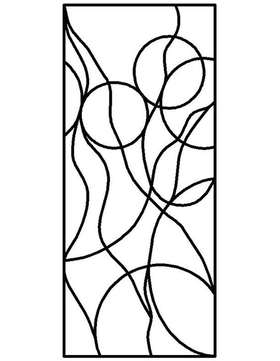 Stained Glass Patterns for FREE ★ glass pattern 210