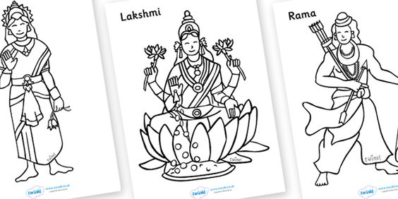 Twinkl Resources >> Diwali Colouring Sheets >> Thousands