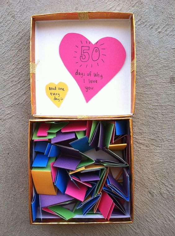 A Box Full Of Different Reasons You Love Your Man So Cute