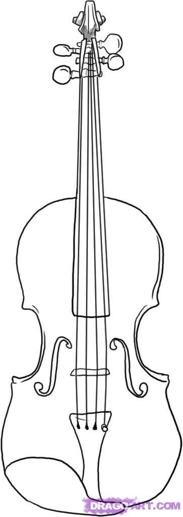 Violin, To draw and Learn to draw on Pinterest